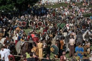 Det var mange krigere på feltet, og ikke mye plass Takk til Del-Ink Fotografie for bildet.